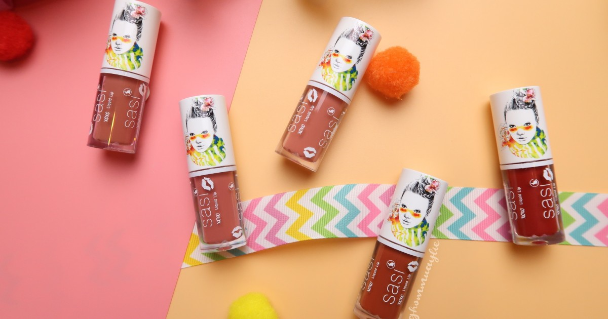 #Review : น้องหนู Sasi XOXO Liquid Lip ทั้ง 5 สี (ดีมากเว่อร์)