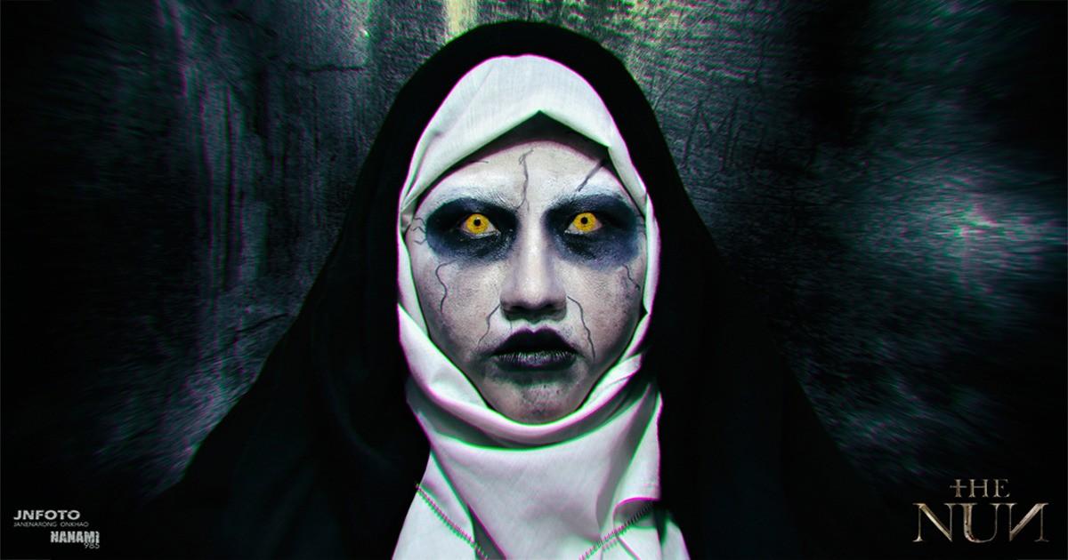 Makeup Tutorial The Nun ผะ ผะ ผะ ผีแม่ชี
