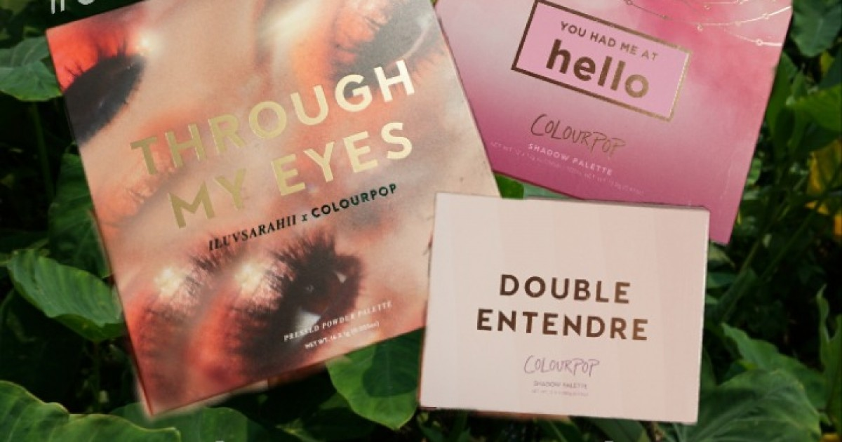 Review colourpop eyeshadow palettes (through my eyes) (you had me at hello) (double entendre)