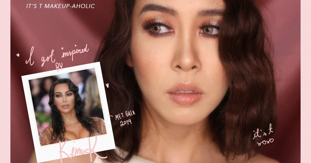 HOW TO ✨WET & GLAM MAKE UP LOOK + รีวิวแป้ง  ✨