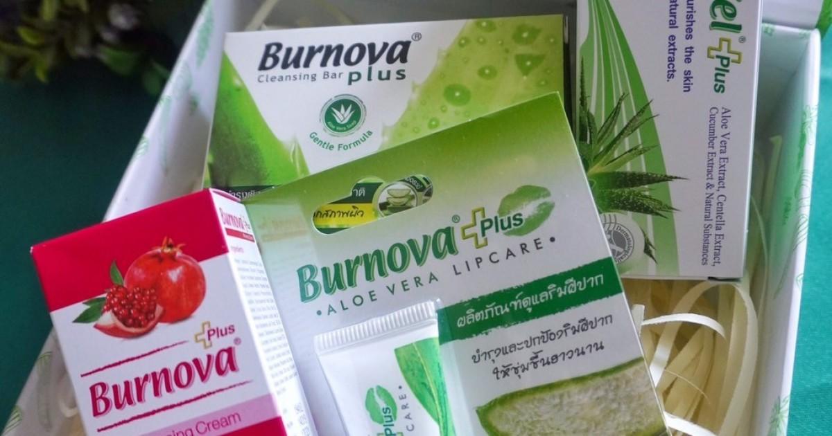 รีวิว Burnova Plus Whitening Cream