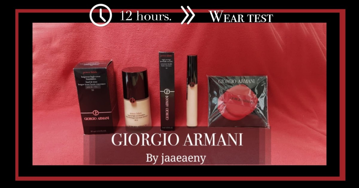 Wear Test >>> Long wear Foundation และ Concealer จาก GIORGIO ARMANI