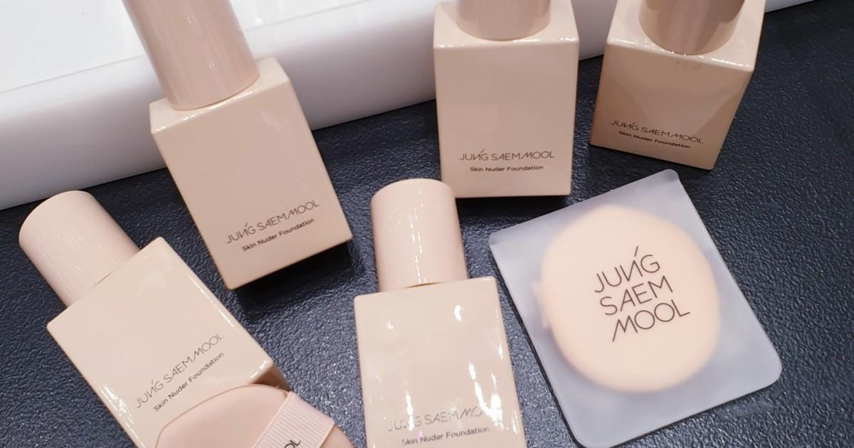 -Jung Saem Mool Skin Nuder Foundation รองพื้นสายเกา(ไม่แมท)ที่คนผิวมันผิวผสมใช้ได้สบายๆ-