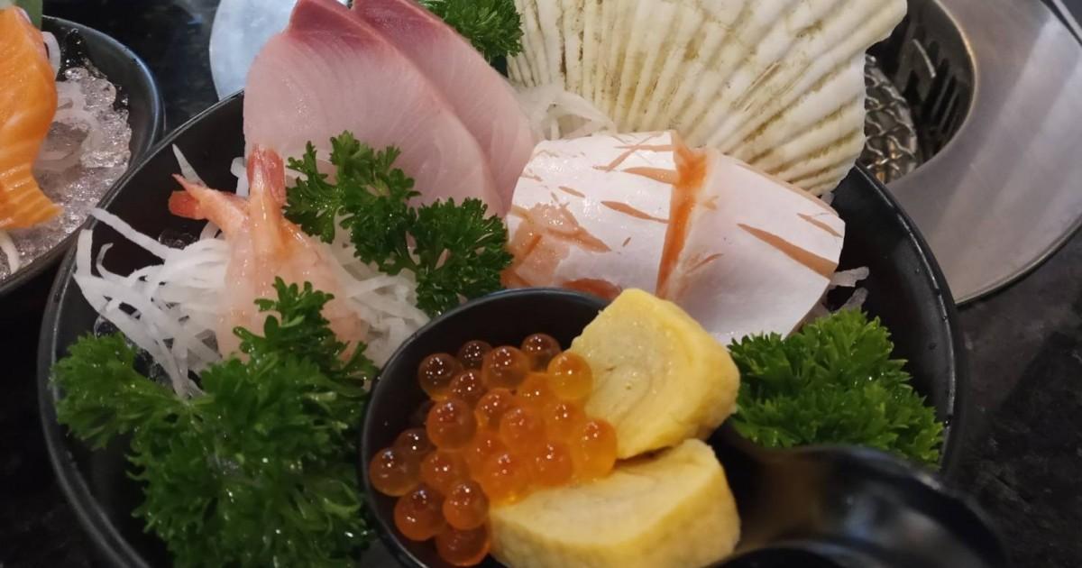 รีวิว บุฟเฟ่ต์ tenjo sushi and yakiniku