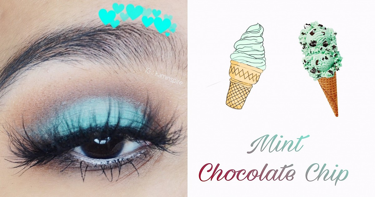 🍃🍫 Mint Chocolate Chip Inspired Eye Makeup