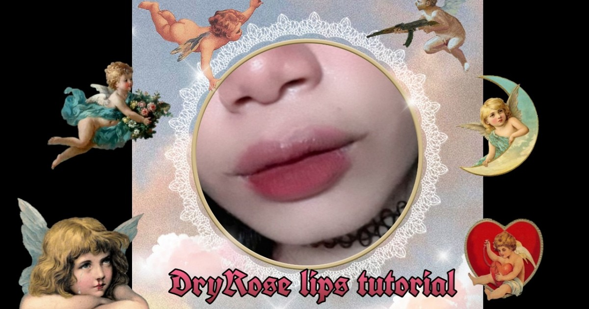 DryRose lips tutorial🥀👄  iam_fahproud🦋