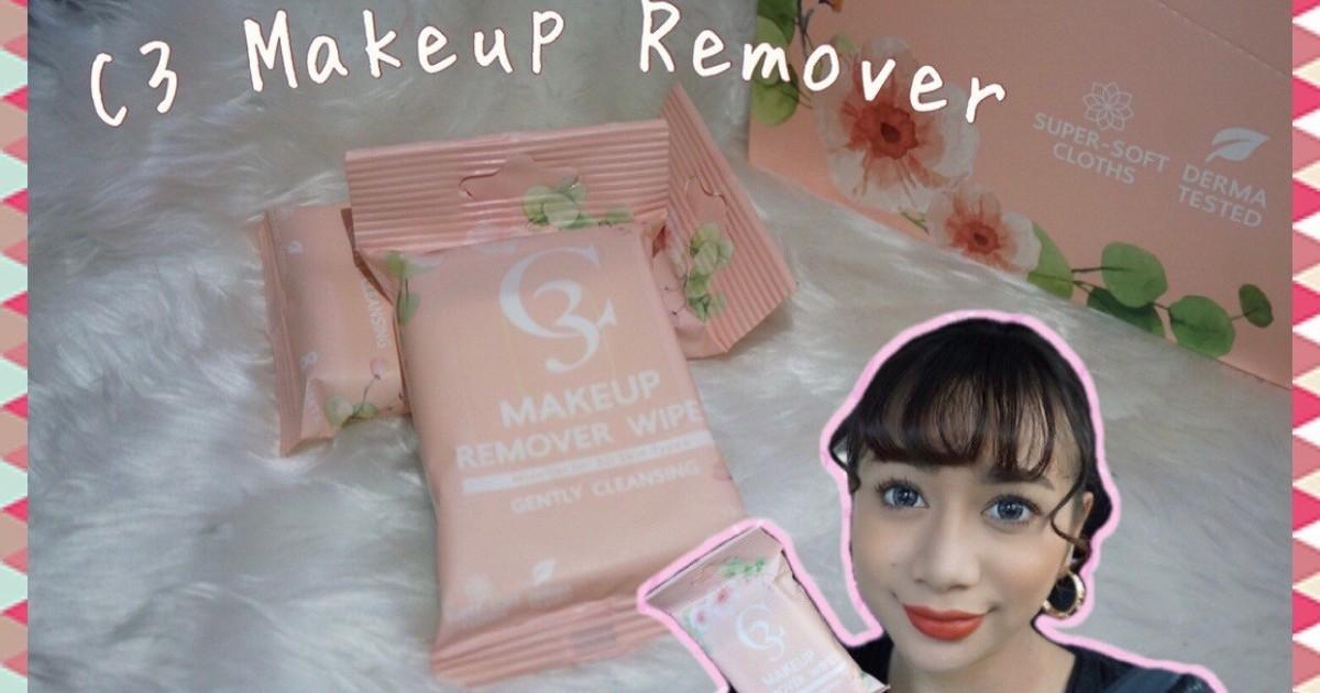 รีวิวแผ่นเช็ดเครื่องสำอาง C3 Makeup Remover เช็ดหมดในแผ่นเดียว🌟