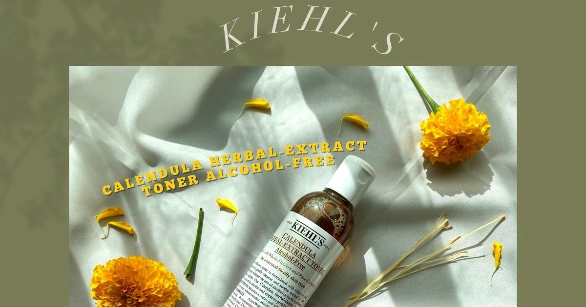 ดาวเรืองสู่ดาวเด่น ด้วย KIEHL'S สูตร Calendula Herbal Extract Alcohol-Free Toner