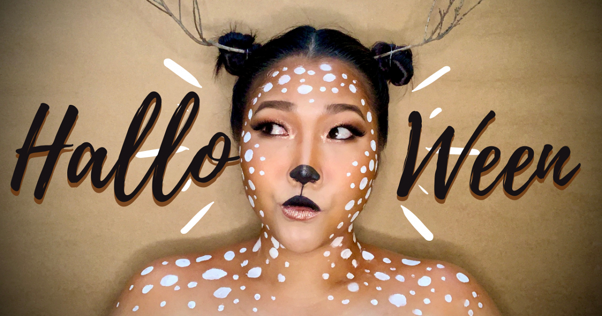 มาเป็นกวางกันเถอะ ^^ Halloween   Deer makeup tutorial