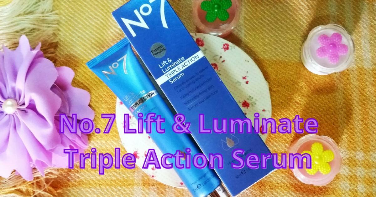 มาดูผลลัพธ์!! 14 Days with No7. Lift & Luminate TRIPLE ACTION Serum