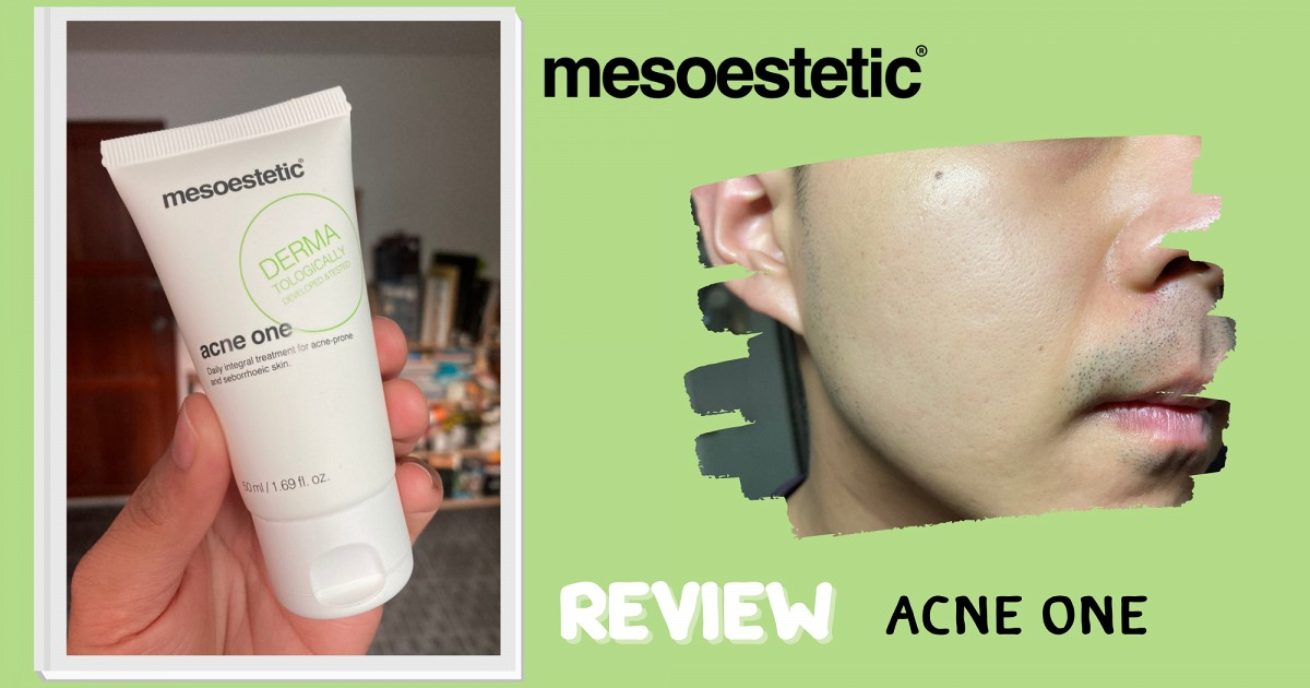 Review ครีมลดสิว acne one จาก mesoestetic