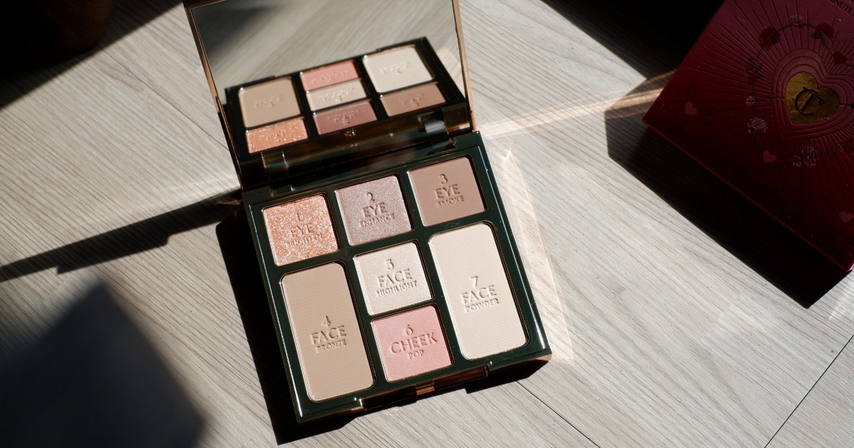 mini review: Charlotte Tilbury Instant Look Of Love In A Palette สี Pretty Blushed Beauty