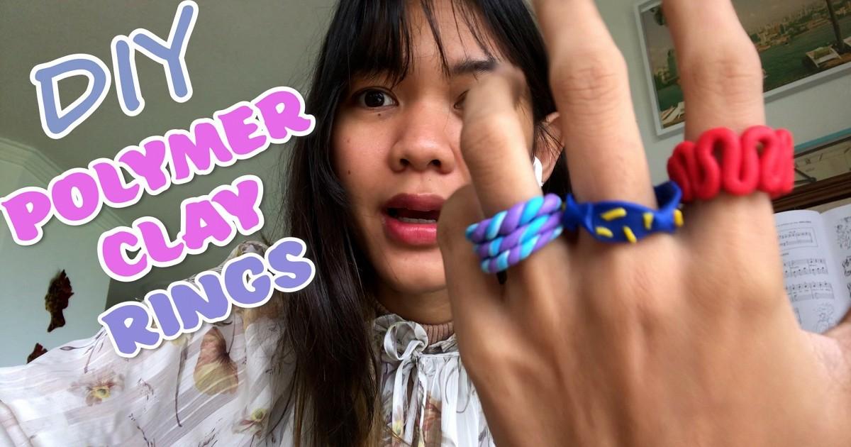 DIY Polymer Clay Rings ทำแหวนจากดินน้ำมัน!