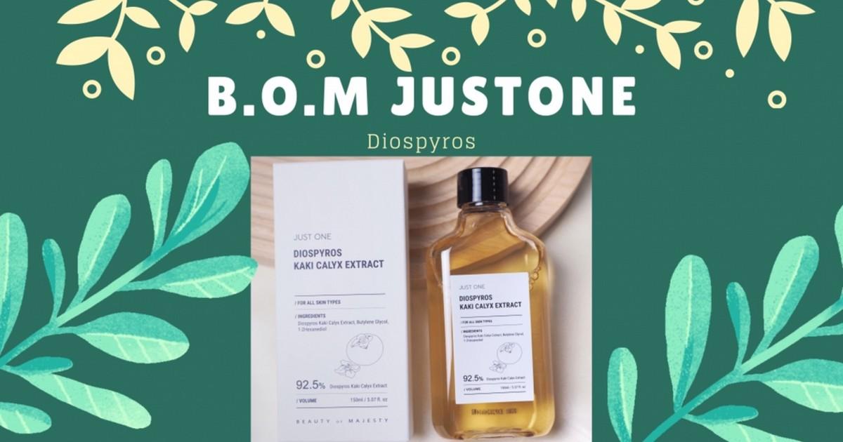 New Product B.O.M JUST ONE DIOSPYROS น้ำตบหน้าสดตัวดังออกสูตรใหม่มาเพิ่ม!!!