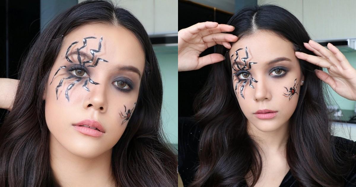 ใหม่ 🎃  Easy Halloween Makeup :แต่งฮาโลวีน 🕷 ลุคแมงมุม ขยุมหัวใจ 😈 สุดแซ่บ อย่างง่าย  