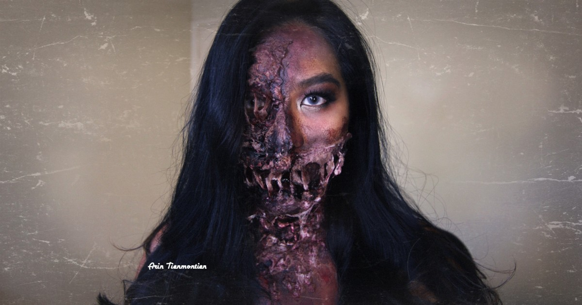EASY Pretty Zombie Halloween Makeup Tutorial   ถึงเป็นซอมบี้แต่ก็ยังอยากสวยนะ   Dead But GLAM