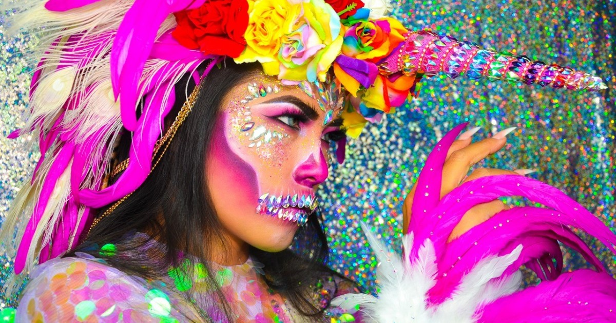 How To : UNICORN SKULL Halloween makeup look by MAYCRY999