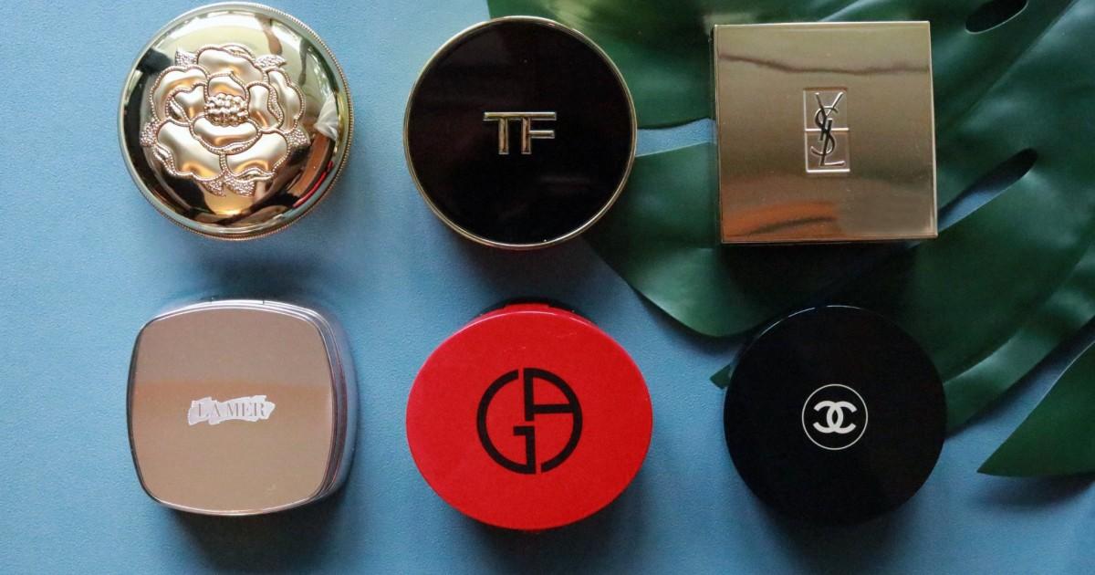 รีวิวเปรียบเทียบ 6 cushion แบรนด์ดัง Tom Ford Chanel La mer Giorgio Armani YSL The History of Whoo