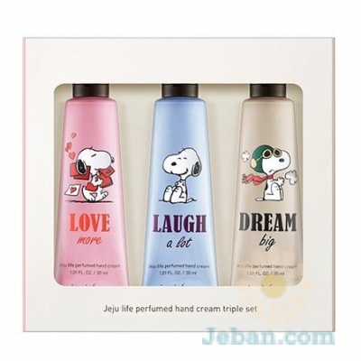 Snoopy Collaboration : Jeju Life Perfumed Hand Cream Set