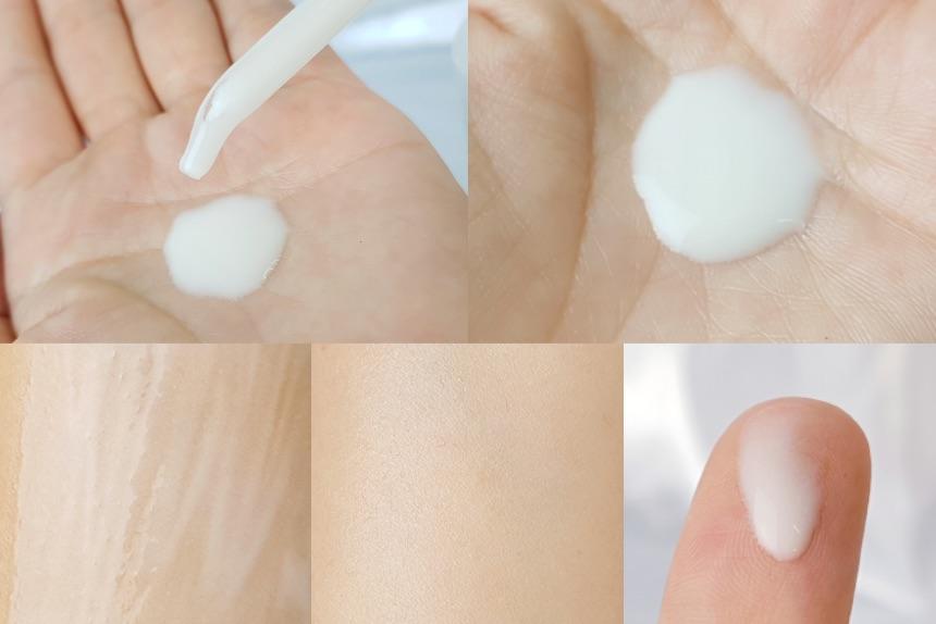 เนื้อผลิตภัณฑ์ของ SK-II GenOptics Aura Essence มีลักษณะคล้ายน้ำนม มีกลิ่นหอมอ่อนๆ ไม่ฉุน