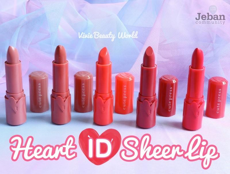 Press lt;3 Sheer ลิปออกใหม่จาก Lip Review Heart Id Cute