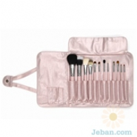 Complete Kit with Brush Roll Pink