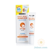 Natural Sunblock Spf 50 For Face (white & Beige)