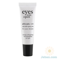 'Eyes wide open' instant refreshing and depuffing eye gel