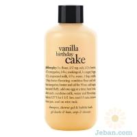 'Vanilla Birthday Cake' Shampoo, Shower Gel & Bubble Bath