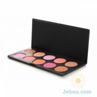 10 Color Professional Blush Palette