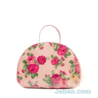 Patent Rose Makeup Bag