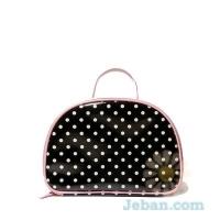Large Polka Dot Cosmetic Bag