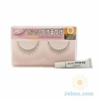False Eyelashes : No.6 Straight Type
