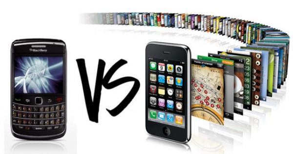"""จาก  Blackberry สู่  iPhone  เบื่อมั้ยคำถาม """"Blackberry  หรือ  iPhone""""  ดี"""