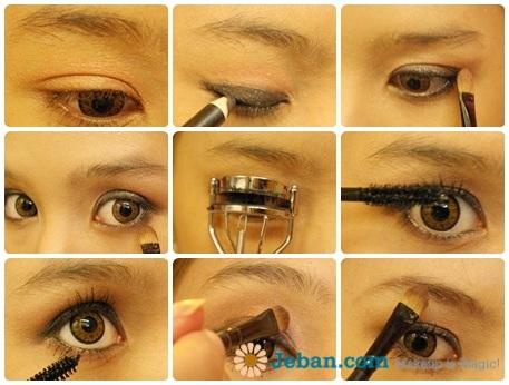 彩妆教学之迷人咖啡眼(图+步骤)