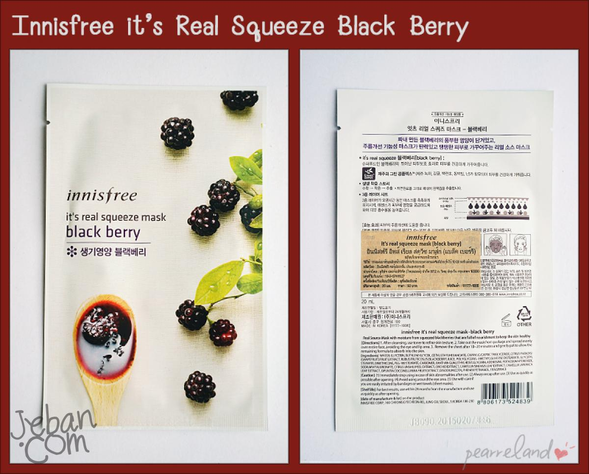 70 Innisfree Real Squeeze Mask Black Berry 21 Its 20 Ml 50