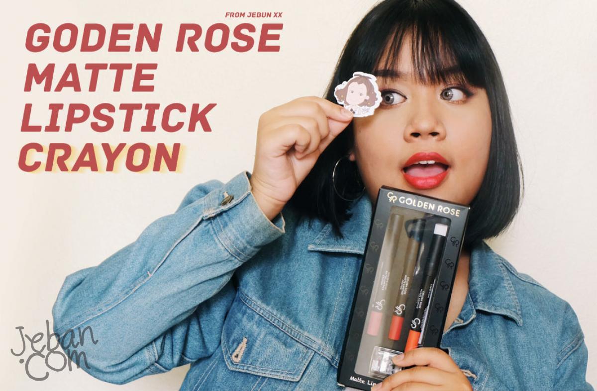 `♪ เห่อ!! : GOLDEN ROSE matte lipstick crayon ของรางสวัลที่ได้จากจีบัน เย้!