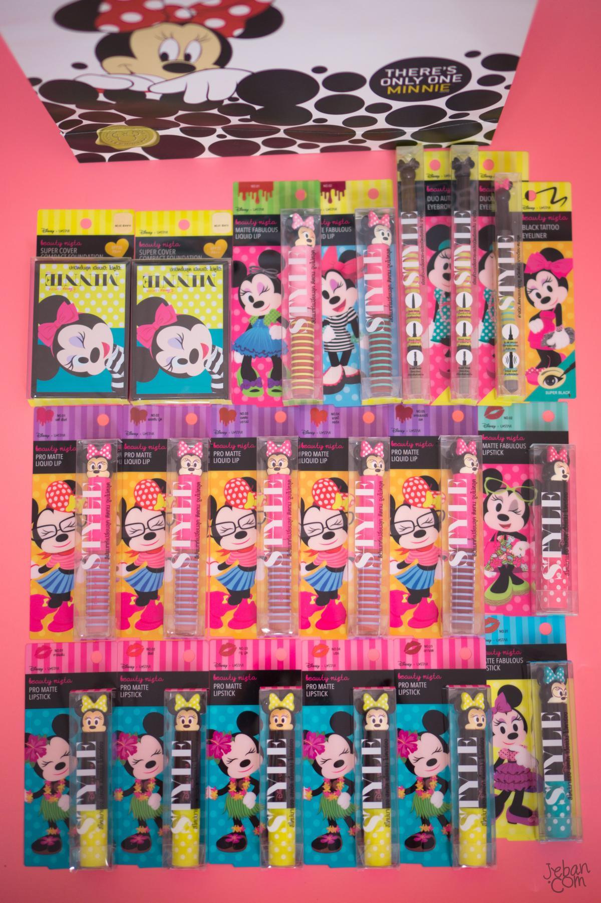 มาตามสัญญา รีวิวสวอช Disney x Ustar | Beauty Nista น้องMinnie Mouseคอลเลคชั่นใหม่ล่าสุดครบทั้งเซ็ต 19 ชิ้น